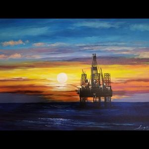 Kelvin Aragon Oil Painting Canvas Oil Drilling